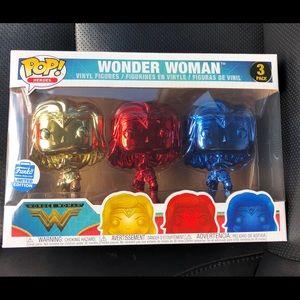 Funko Pop! Wonder Woman-Chrome 3-Pack